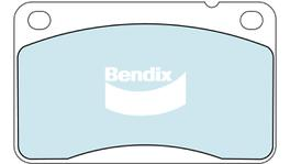 Bendix EURO Brake Pad Set Front DB1173 EURO+ 71909