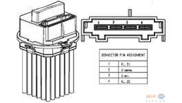 Hella AC Blower Motor Resistor 5HL 351 321-491 fits Mercedes-Benz C-Class (W204)