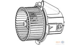 Hella AC Blower Motor 8EW 009 157-541 fits Citroen C4