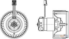 Hella AC Blower Motor 8EW 009 159-631 fits Volvo S80/V80
