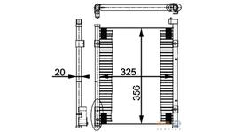 Hella AC Condenser 8FC 351 037-021 fits Honda Civic Series 6