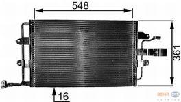 Hella AC Condenser 8FC 351 037-651 fits Volkswagen New Beetle