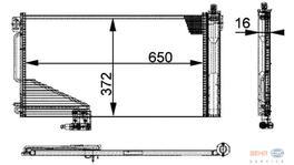 Hella AC Condenser 8FC 351 301-351 fits Mercedes-Benz C-Class (W203) 251695