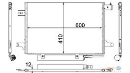 Hella AC Condenser 8FC 351 301-671 fits Mercedes-Benz A & B-Class (W169/W245)
