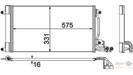 Hella AC Condenser 8FC 351 309-131 fits Seat Ibiza 5/Volkswagen Polo 2009 251896