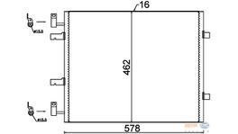 Hella AC Condenser 8FC 351 318-691 fits Renault Trafic 2