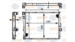 Hella Radiator 8MK 376 716-244 fits BMW 3 Series (E46) MT/AT