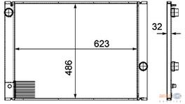 Hella Radiator 8MK 376 719-131 fits BMW 5 Series (E60) Petrol 249306