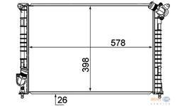 Hella Radiator 8MK 376 749-511 fits Mini Cooper S 1.6I 16V