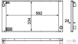 Hella Radiator 8MK 376 754-221 fits Mini (R56/57)