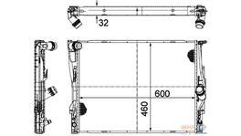 Hella Radiator 8MK 376 782-071 fits BMW 3 Series (E90) AT