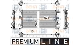 Hella Radiator 8MK 376 783-601 fits Ford Focus