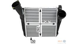 Hella Intercooler 8ML 376 723-471 fits Porsche Cayenne 250031