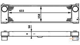 Hella Intercooler 8ML 376 723-531 fits Mercedes-Benz Viano (W639)