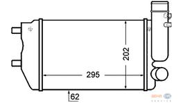 Hella Intercooler 8ML 376 727-571 fits Fiat Ducato