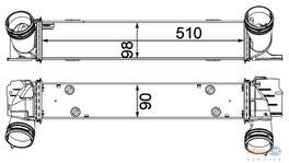 Hella Intercooler 8ML 376 731-791 fits BMW 1 & 3 Series (E87,E90) 2.0D