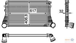 Hella Intercooler 8ML 376 746-061 fits Volkswagen Passat Mk5
