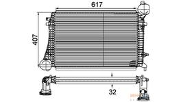 Hella Intercooler 8ML 376 746-161 fits Audi A3/Volkswagen Golf Mk5