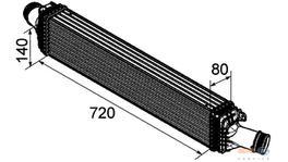 Hella Intercooler 8ML 376 746-181 fits Audi A4/A5/Q5