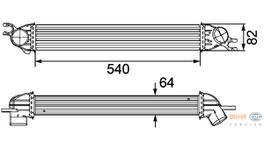 Hella Intercooler 8ML 376 746-451 fits Mini (R55/56)
