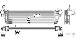 Hella Intercooler 8ML 376 755-471 fits Volkswagen Transporter T5
