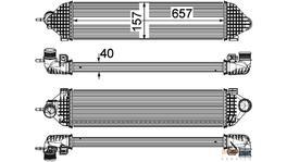 Hella Intercooler 8ML 376 755-621 fits Ford Focus/C-Max