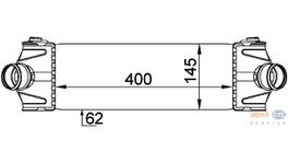 Hella Intercooler 8ML 376 765-101 fits Ford Transit Series 7 2.2/2.4T