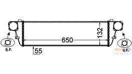Hella Intercooler 8ML 376 776-351 fits Mercedes-Benz C203 Coupe