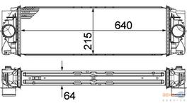 Hella Intercooler 8ML 376 777-401 fits Mercedes-Benz Sprinter (W906)