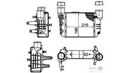 Hella Intercooler 8ML 376 783-581 fits Audi A4 1.8L T