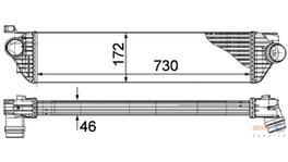 Hella Intercooler 8ML 376 787-411 fits Renault Master