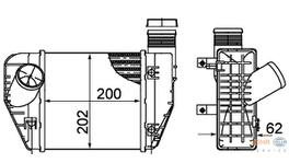 Hella Intercooler 8ML 376 899-071 fits Audi A6 2.0 TDI/TFSI