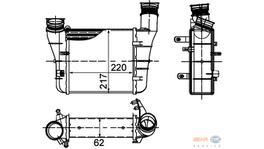 Hella Intercooler 8ML 376 899-121 fits Audi A4/Seat Exeo