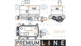 Hella Transmission Oil Cooler 8MO 376 725-101