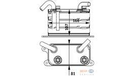 Hella Engine Oil Cooler 8MO 376 729-631 fits Volkswagen Transporter T5