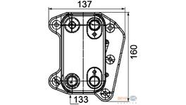 Hella Engine Oil Cooler 8MO 376 755-251 fits Mercedes-Benz E-Class (W211)