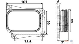 Hella Engine Oil Cooler 8MO 376 756-731 fits Mercedes-Benz C & E-Class