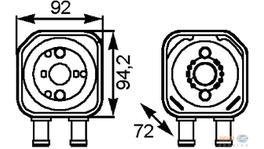 Hella Engine Oil Cooler Adapter Plate 8MO 376 778-041 fits Volkswagen Golf/Passat/T5