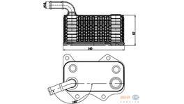 Hella Engine Oil Cooler 8MO 376 783-771 fits Volkswagen Golf Mk5/Passat CC