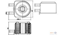 Hella Engine Oil Cooler Adapter Plate 8MO 376 783-791 fits Citroen C5/Peugeot 406