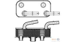 Hella Transmission Oil Cooler 8MO 376 790-791 fits BMW E46