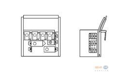 Hella AC Blower Motor Resistor 9ML 351 332-131 fits BMW 3 Series 1982-93 (E30)