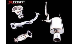 XFORCE Turbo Back Exhaust Stainless Steel w/Varex fits Mitsubishi Evo 7-9 154045