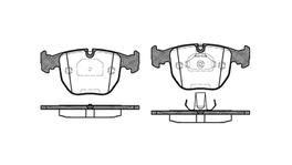REMSA Brake Pad Set Front 0596.00