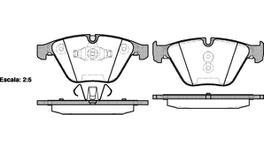 REMSA Brake Pad Set Front 0857.10