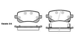 REMSA Brake Pad Set Rear 1095.02