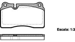 REMSA Brake Pad Set Front 1200.00