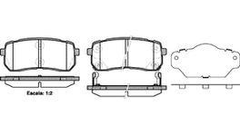 REMSA Brake Pad Set Rear 1288.02