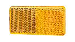 HELLA Reflector 94mmx44mm Amber Self Adhesive 2922