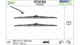 Valeo Silencio Wiper Blade Set Front VM206 574194